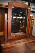 A modern pine dressing table mirror