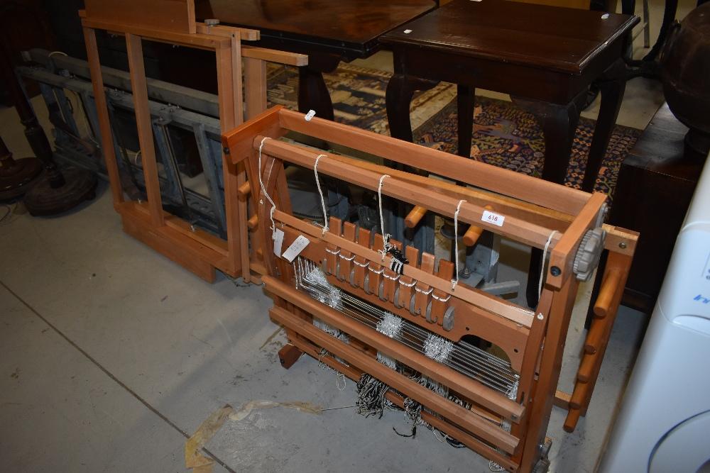 A modern weaving loom etc