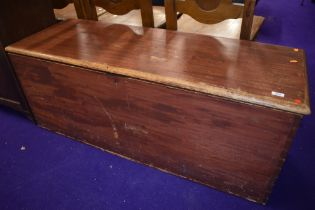 A stained frame bedding box, approx. 50cm width