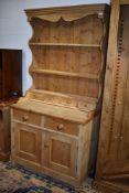 A natural pine dresser, width approx. 93cm