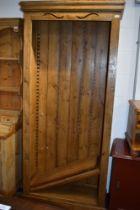 A rustic pine bookshelf approx. W90 x H198 x D38cm