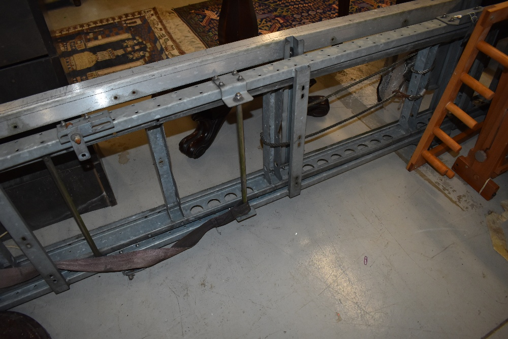A set of van roof ladders/ladder rack, transit or similar