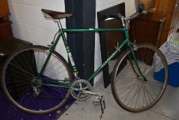 A vintage Mercian bicycle labelled Mercian having Reynolds 531 frame , Campagnola gears and
