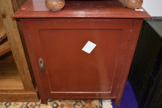 An early 20th Century cabinet, later painted , width approx.61cm, height 70cm, depth 43cm