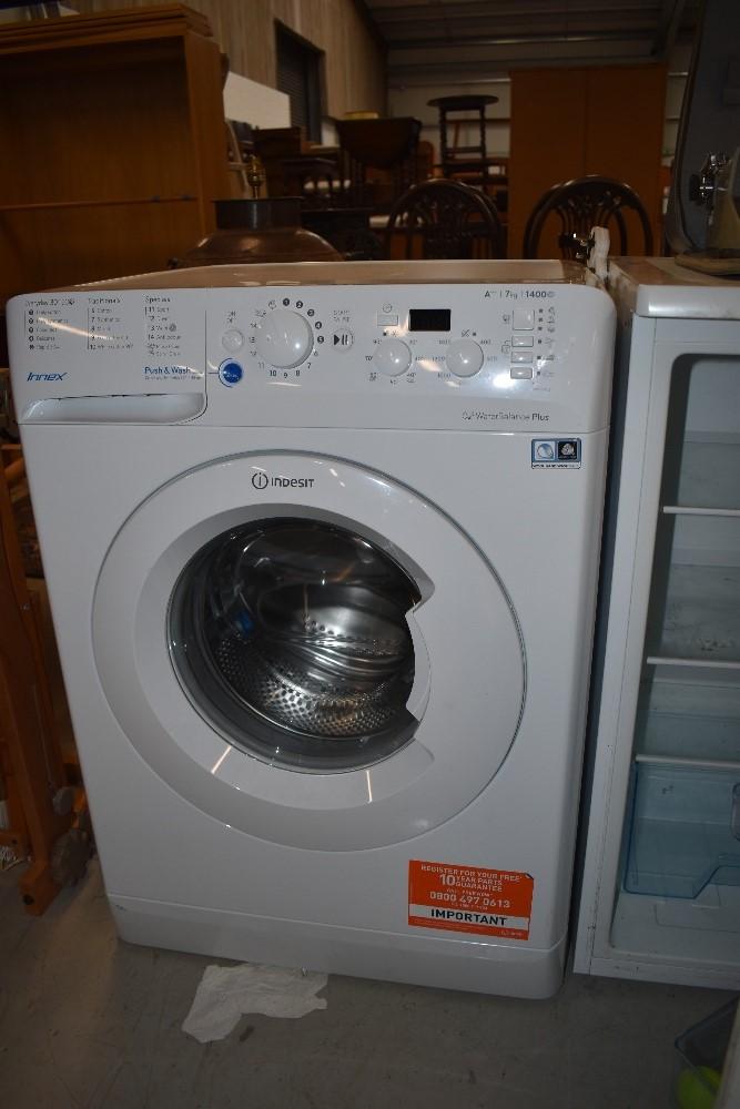 An Indesit washing machine
