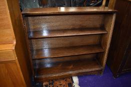 An early 20th Century oak bookshelf
