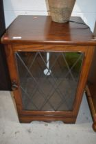 A priory style part oak glazed hifi or similar cabinet