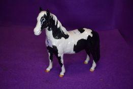 A Beswick study, Pinto Pony, piebald, second version, model no 1373