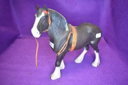 A Beswick study, Clydesdale, chocolate, show harness, matt, model no 2645