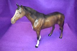 A Beswick study, Large Racehorse, brown, model no 1564