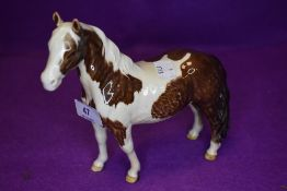 A Beswick study, Pinto Pony, skewbald, first version, model no 1373