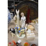 A selection of figures and figurines including Royal Adderley and Sheep dog