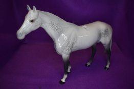 A Beswick study, Large Racehorse, grey, model no 1564