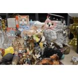 A selection of figures and figurines animal interest including West German and Sylvac etc