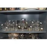 A varied lot of glasses,vintage and retro predominantly.
