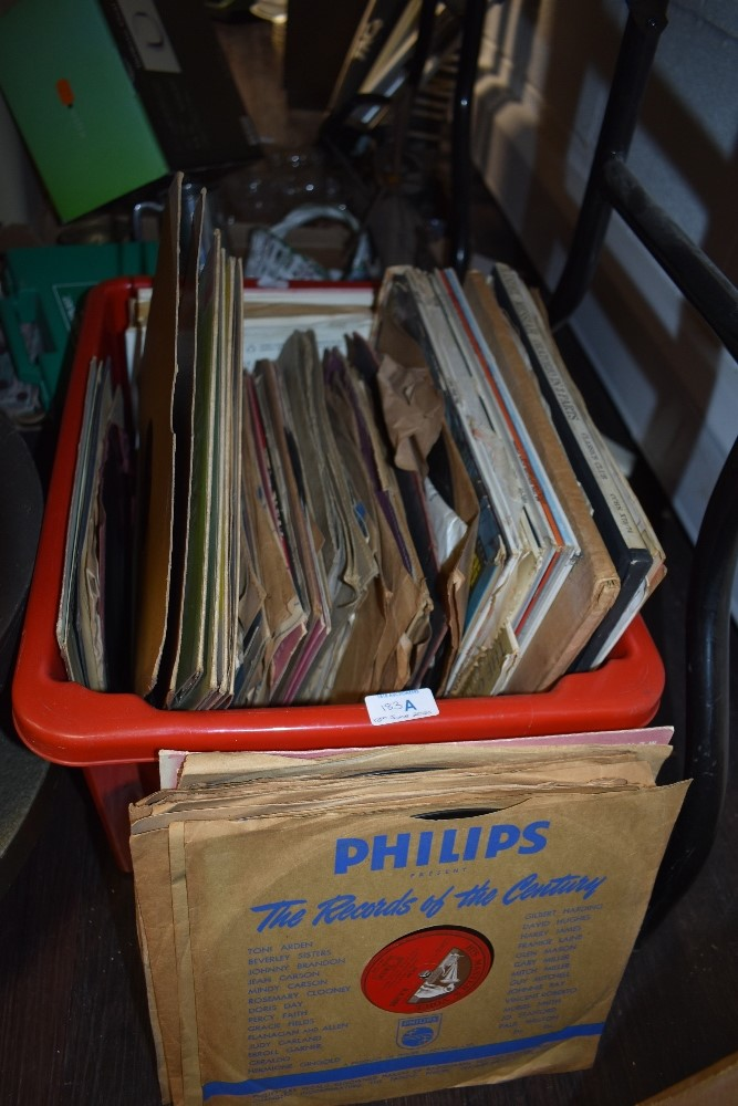 A box full of shellac 78 records, predominantly of classical interest.