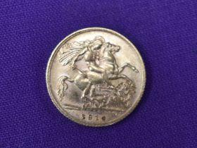 A 1914 George V Gold Half Sovereign