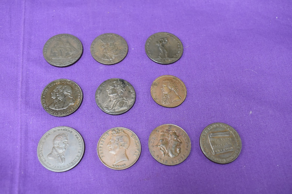 An album of GB Tokens mainly copper and bronze, approx 78 tokens, most in good condition, along with - Image 10 of 18