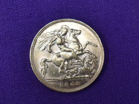 A 1908 Edward VII Gold Half Sovereign