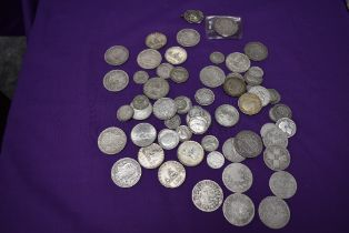 A collection of GB & World Silver Coins including Victoria, Edward & George, Edward includes