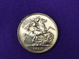 A 1912 George V Gold Half Sovereign