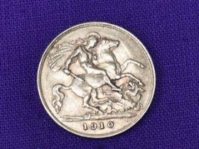 A 1910 Edward VII Gold Half Sovereign