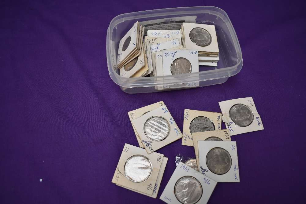 A collection of Irish Coins, 20 Halfcrowns including 1928, 1939, 1940, 1941, 1942, 1954, 16