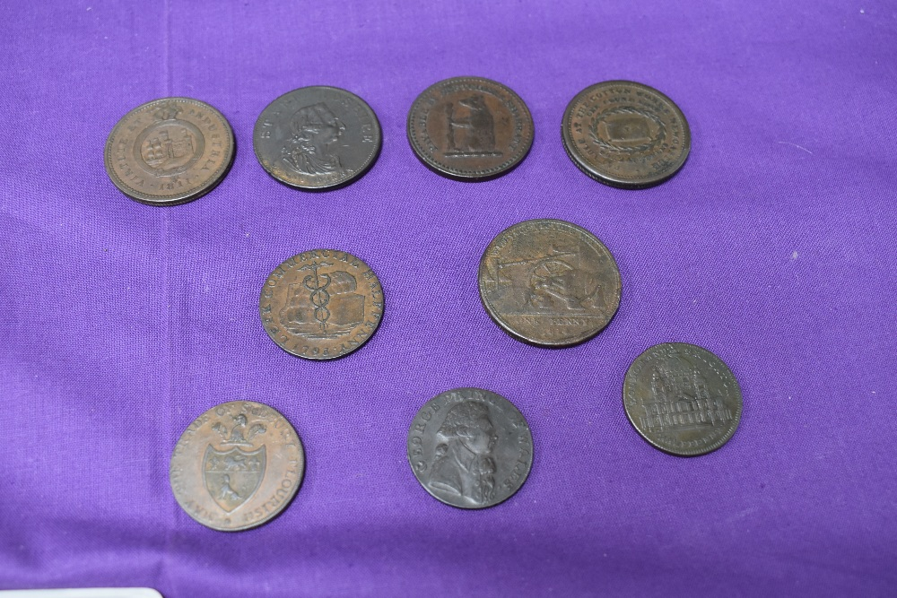 An album of GB Tokens mainly copper and bronze, approx 78 tokens, most in good condition, along with - Image 13 of 18