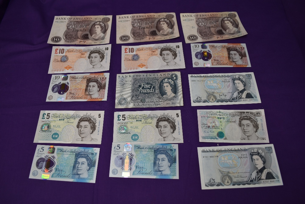 A collection of GB Banknotes, £50-£5, condition uncirculated to used, £50 note Kentfield, £20 - Image 3 of 4