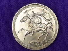 A 1973 Elizabeth II Isle of Man Gold Half Sovereign