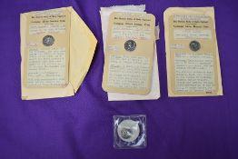 A small collection of four Silver Roman Coins, A Julius Caesar Silver Denarius, obverse Elephant