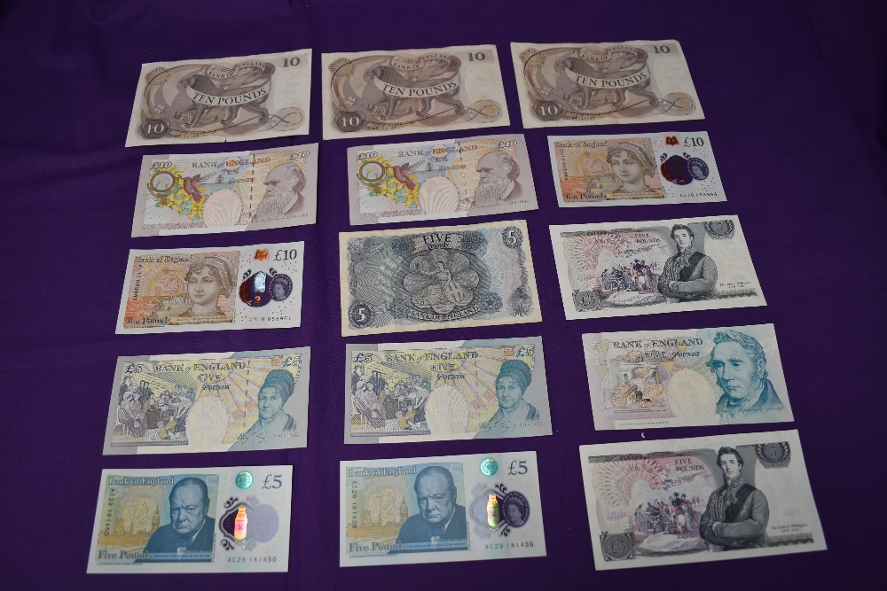 A collection of GB Banknotes, £50-£5, condition uncirculated to used, £50 note Kentfield, £20 - Image 4 of 4