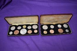 A 1953 Elizabeth II Coronation Specimen Coin Set and a 1966 Elizabeth II Specimen Coin Set