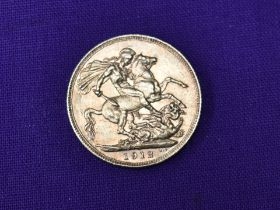 A 1912 George V Gold Sovereign