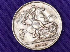 A 1913 George V Gold Half Sovereign