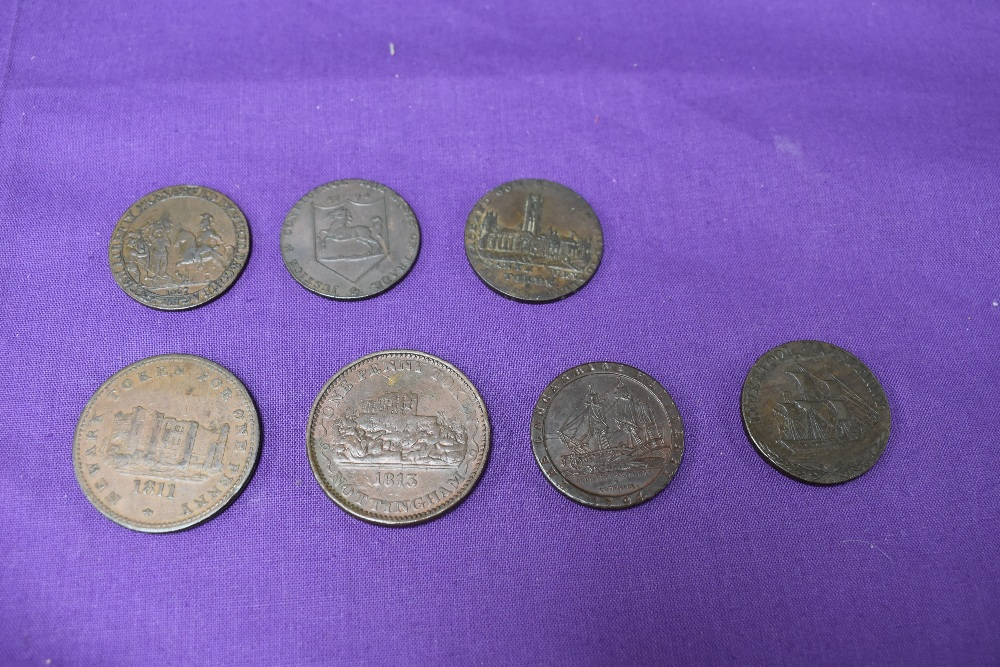An album of GB Tokens mainly copper and bronze, approx 78 tokens, most in good condition, along with - Image 9 of 18