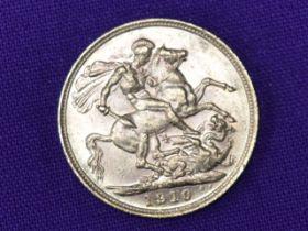 A 1910 Edward VII Gold Sovereign having Melbourne Mint Mark