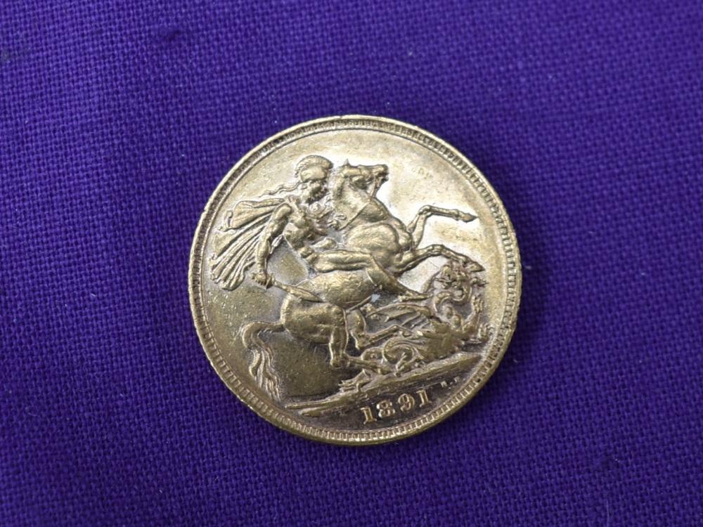 A 1891 Queen Victoria Gold Sovereign