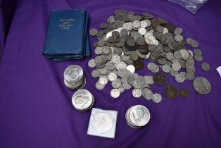 A collection of GB Coins, mainly copper Nikel including Crowns and Sixpences along with Britains