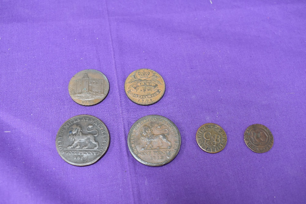 An album of GB Tokens mainly copper and bronze, approx 78 tokens, most in good condition, along with - Image 6 of 18