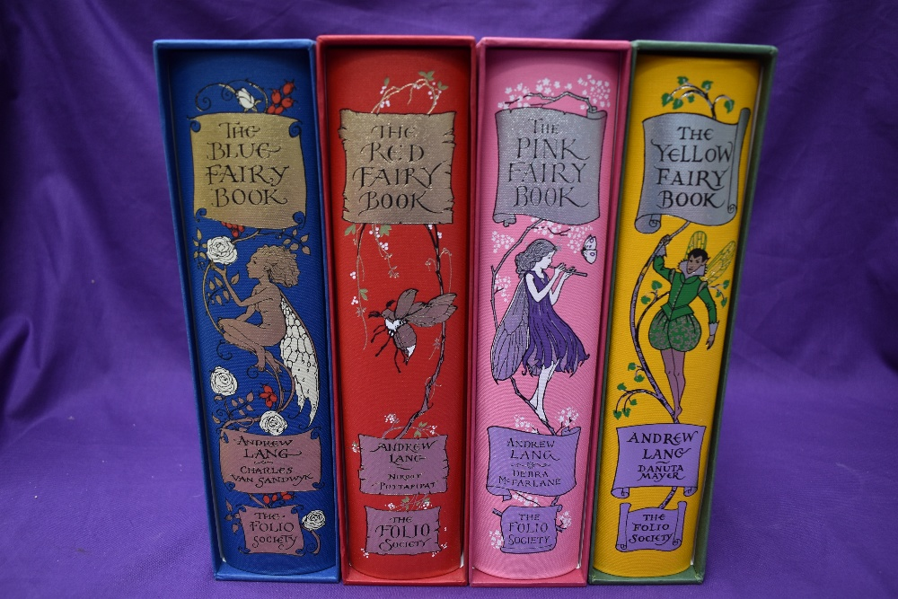 Folio Society. Fairy Books. Four from the series, comprising; Blue (2008); Red (2008); Pink (