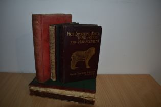 Dogs. A small selection. Includes; Barton, F. T. - Non-Sporting Dogs: Their Points and Management (