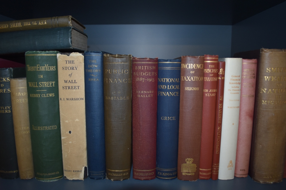 Economics and Financial History. A shelf. Includes; Smith's Wealth of Nations - the 1863 single - Image 3 of 4