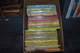 Children's. A small carton of Ladybird books. Fiction and Non-Fiction. Condition mixed. (35)