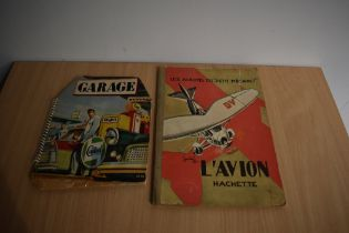 Children's. Pop-up book: Garage, published by Bancroft & Co. Of London. Some tape repairs. With; Les