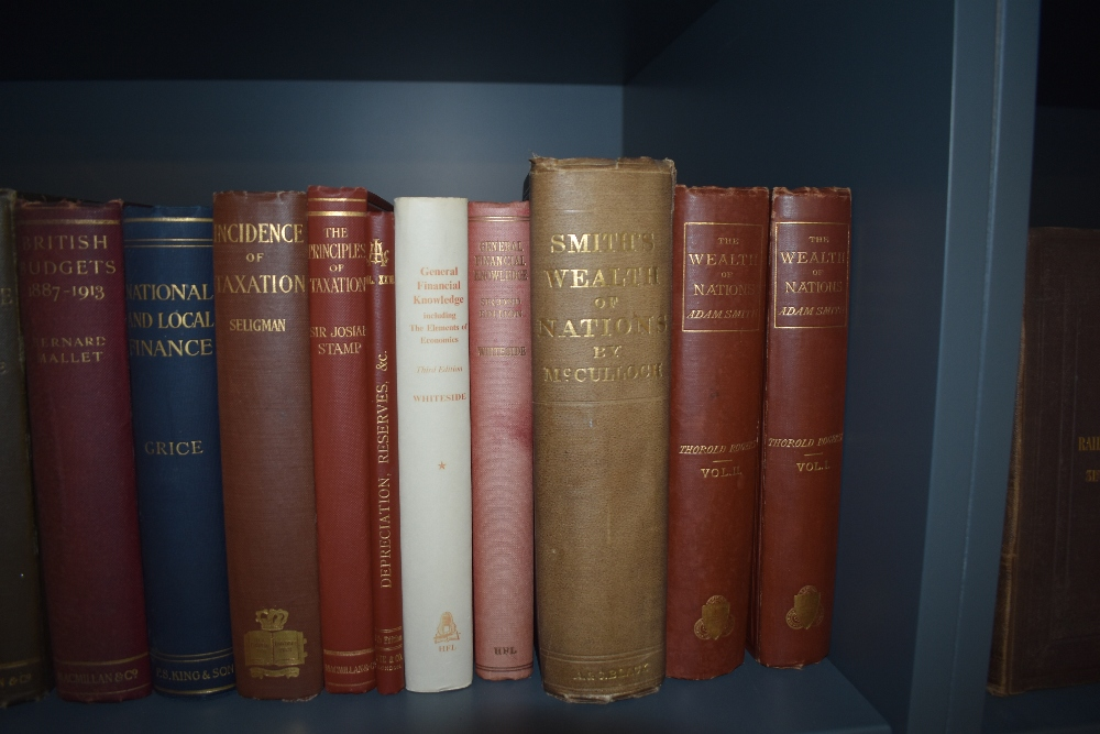 Economics and Financial History. A shelf. Includes; Smith's Wealth of Nations - the 1863 single - Image 4 of 4