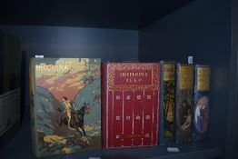 Decorative cloth bindings. Edwardian fiction. A small selection, with remains of a few dust