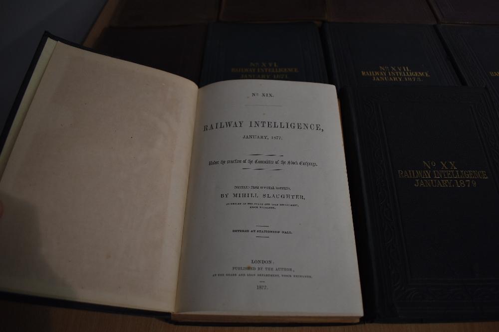 Railways. Slaughter, Mihill - Railway Intelligence. Nos. 9-20. 1856-1879. Original cloth, - Image 2 of 2