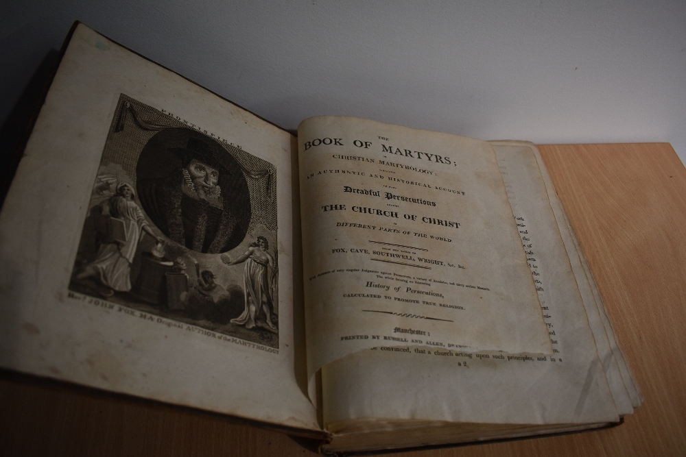 Antiquarian. The Book of Martyrs; or, Christian Martyrology &c. Manchester: Printed by Russell and - Image 2 of 2