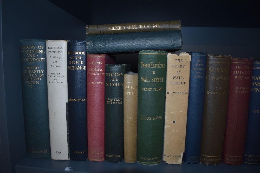 Economics and Financial History. A shelf. Includes; Smith's Wealth of Nations - the 1863 single - Image 2 of 4
